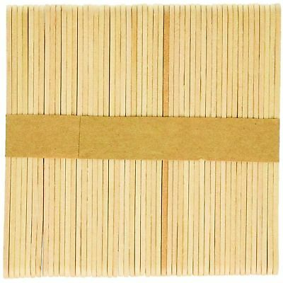 200 100 Wooden Craft Sticks Paddle Pop Popsicle Coffee Stirrers Ice Cream Stick 8