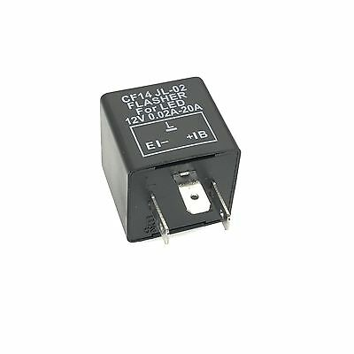 LED Blinker-Relais Lastunabhängig 12V 0,02-20A 3-Polig CF14 Flasher Blinkrelais 3