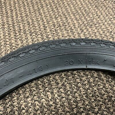 """New Bicycle Schwinn Retro 20/"""" x 1-3//4/"""" Stingray Front Black Wall Tire 1 Only"""