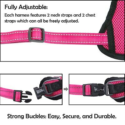 Dog Harness No-Pull Pet Harness Vest Adjustable Outdoor Reflective Easy Control 4