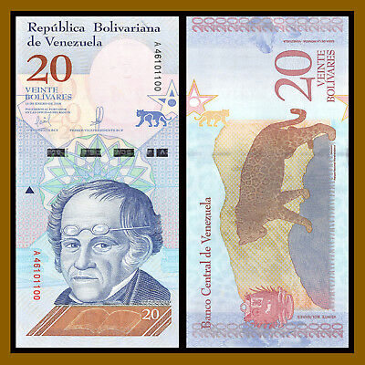 Venezuela 2 5 10 20 50 100 200 500 Bolivares Soberanos (8 Pcs Full Set) 2018 New 6