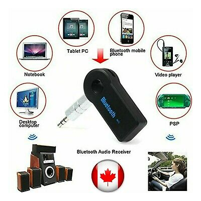 Wireless Bluetooth Adapter 3.5mm Aux Audio Music Receiver Stereo Car Mic 3