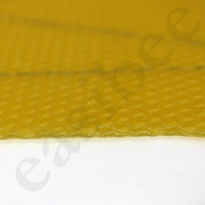 National Bee Hive Super Wired 100% Natural Beeswax Wax Foundation Sheets Easibee