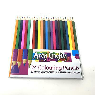 24pcs Colouring Pencils Set Drawing Painting Artist Kids Therapy Book Relax 5