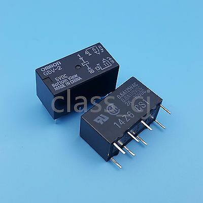 5pcs G5V-2 DC 12V 2A DPDT 8Pin PCB Mount Low-cost Signal Relay ZY