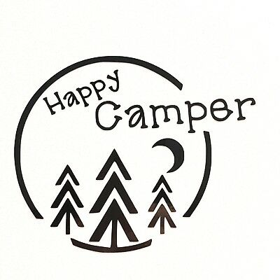 1 Of 2FREE Shipping Happy Camper Vinyl Decal Sticker