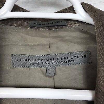 Le Collezioni Structure Brown Velvet 3 Button Suit Jacket Sport Coat Men's Large 4