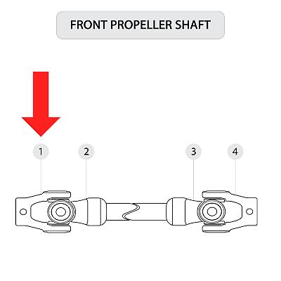 for Polaris RZR XP 900 EFI 2011 2012 2013 Front Prop Shaft U-Joint