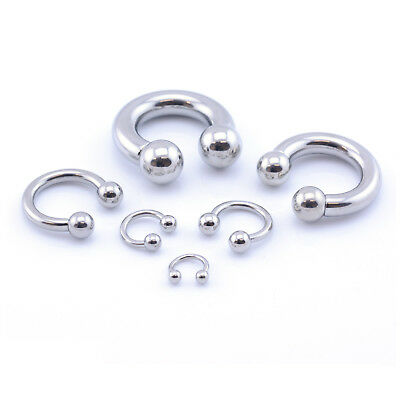 Horseshoe Bar Circular Barbell Lip Nose Septum Ear Ring Various Sizes available 4