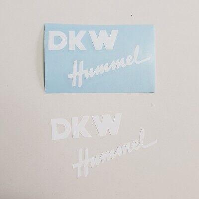 Aufkleber Set DKW Hummel * 101 / 112 / 113 * weiß 3