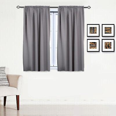 Gardinen Vorhang blickdicht mit Kräuselband Thermo Verdunkelung 250g/m2 #330-a 9