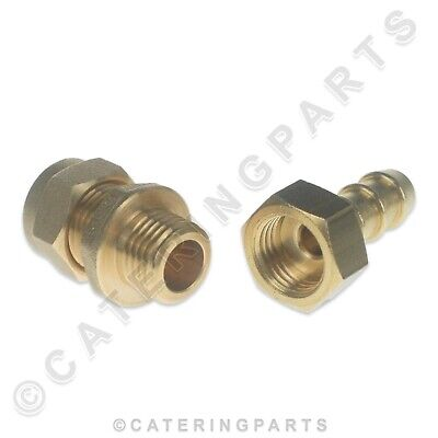 """FULHAM GAS NOZZLE 1//4/"""" COMPRESSION COPPER PIPE FITTING TO 10mm 8mm ORANGE HOSE"""
