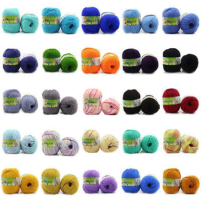 50g Lot Chunky Yarn Knitting wool Silk Protein cashmere Crochet baby soft cotton 3