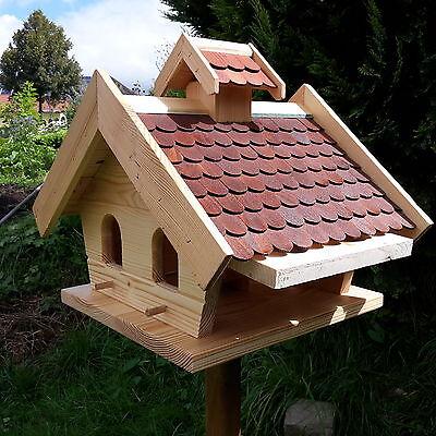 gro es vogelhaus putzklappe vogelfutterhaus vogelh user holz vogelh uschen gpb eur 48 99. Black Bedroom Furniture Sets. Home Design Ideas
