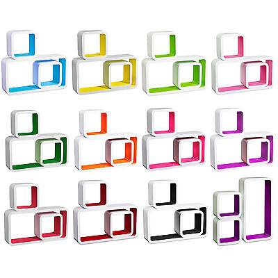 Floating Wall Mount Shelf Cube Storage Display Shelves Set Of 3 Modern Design 2