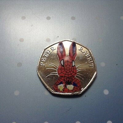 Beatrix Potter Peter Rabbit Marvel Super hero decal 50p set Spider Bat Deadpool 10