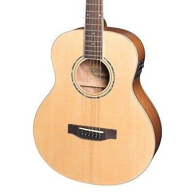 NEW Timberidge Left Handed TS-Mini Solid Spruce Top Acoustic-Electric Guitar 5