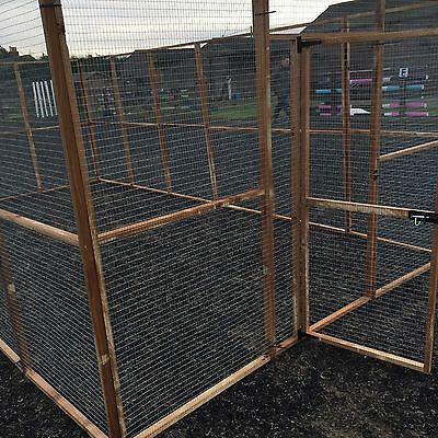 LARGE ANIMAL ENCLOSURE Run / Pen / Aviary 18 Panels Dog / Chicken / Puppy