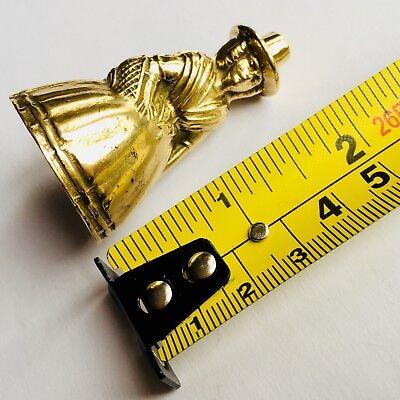 "Superb Rare Antique Miniature English Georgian (1800s) Elegant 2""/5cm Brass Bell 11"