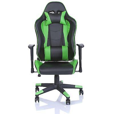 Sedie Da Ufficio Verde.Tresko Sedia Da Ufficio Poltrona Ufficio Versione Racer Gaming Verde Chiaro