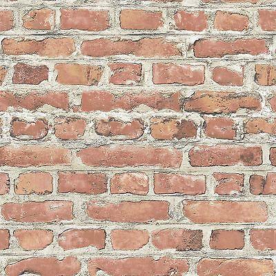 Rasch Red Brick Effect Wallpaper Rolls (235203) New Room Decor