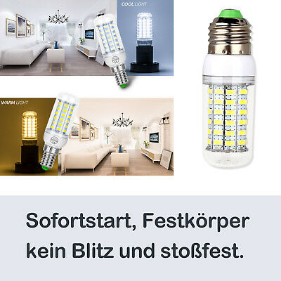 LED Birnen Glühbirne E27 E14 Warmweiß Kaltweiß Neutralweiß 5730 SMD 220V Lampe 4