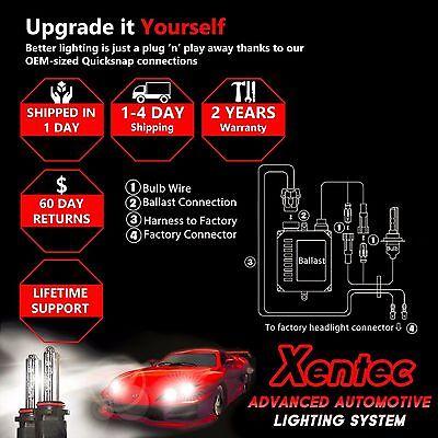 Xentec H3 8000K HID xenon bulb x 1 pair bundle with 2 x 35W Digital Ballast Lightning Blue