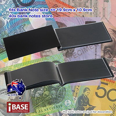 2x BankNote Album Stock Collection Storage Currency Holder Pocket Coin Money 40 3