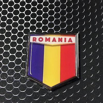 """France Flag Domed CHROME Emblem Proud Flag Car 3D Sticker 2/""""x 2.25/"""" Paris"""