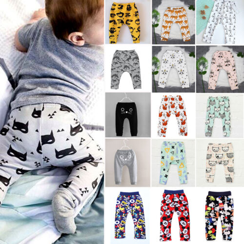 Baby Toddler Boy Girls Print Harem Pants Casual Loose Bottoms Trousers Leggings