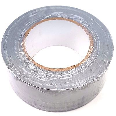 Strong Duct Gaffa Gaffer Waterproof Cloth Tape Silver 50mm x 50 Meter Roll