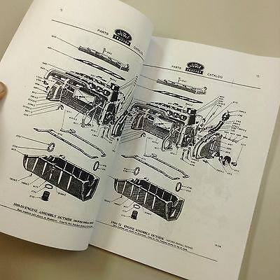 lot ford naa golden jubilee tractor service & parts manuals repair shop  catalog 11