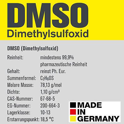 DMSO 1000ml Dimethylsulfoxid, über 99,9% Reinheit (Ph. Eur.) in Braunglasflasche 3