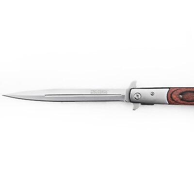 "12.5"" TAC FORCE SPRING ASSISTED TACTICAL STILETTO FOLDING POCKET KNIFE Blade Red 5"
