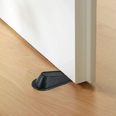door stopper wedge. 2 Of 5 4 Pack Large Rubber Door Stopper Wedge Jam Catcher Block Home Office Black B