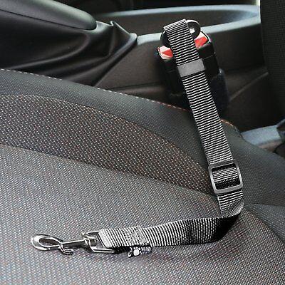 PET DOG black CAR SEAT BELT CLIP SAFETY HARNESS RESTRAINT CAR VAN TRAVEL (BLACK) 4