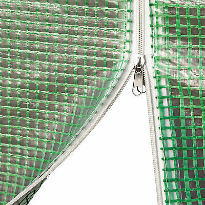 Serre de jardin 8 fenetres bâche verte maraîchère metal serres tunnel PE 18m²