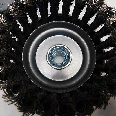 """Pferd 4"""" Dia. x 5/8-11 Thread Knot - Standard Twist Cup Brush .023 CS Wire 5"""
