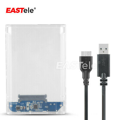 "USB 3.0 Transparent 2.5"" SATA 3.0 5Gbps SSD HDD Hard Disk Drive Enclosure Case 9"