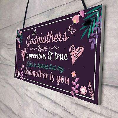 Best GodMother Ever-Christening Gifts Friendship Gift Thank You Signs plaques W