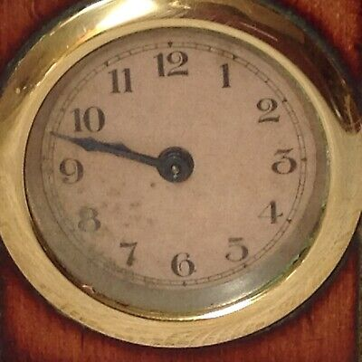 Antique, Unusual Travel, Carriage Clock In Mahogany Casing, Doors To Front 5