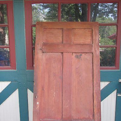 Antique Hand Made Wooden Cross & Book Door, Bennington Knob,Through Tenon,1840's 10