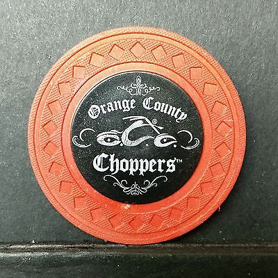 CARD GUARD//PROTECTOR ORANGE COUNTY CHOPPERS POKER CHIP