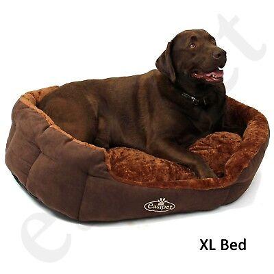 Dog Bed Pet Cat Puppy Deluxe Faux Fur Washable Fleece Cushion S M L XL Easipet 6