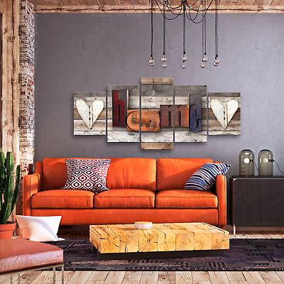 HOME HAUS HOLZ BRETTER Wandbilder xxl Bilder Vlies Leinwand m-C-0263-b-m