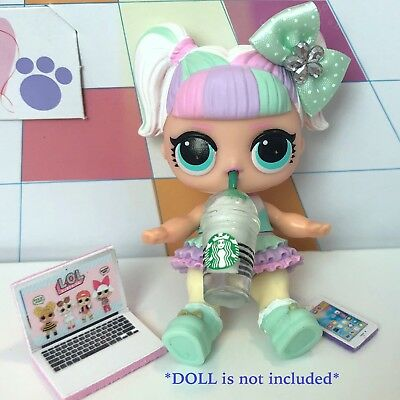 4 PC LOL Accessories Surprise Doll Starbucks Clothes Lot *Doll Not Included* 2
