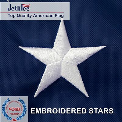 4x6 ft USA American Flag Embroidered Stars Sewn Stripes Grommets Nylon US U.S 3