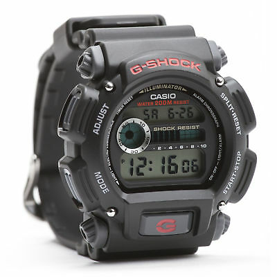 Casio Men's DW9052-1V G-Shock Black Stainless Steel and Resin Digital Watch 2