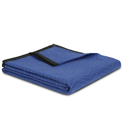 "12 Pack Moving Blankets 80"" x 72"" Pro Economy - Black Shipping Furniture Pads 5"