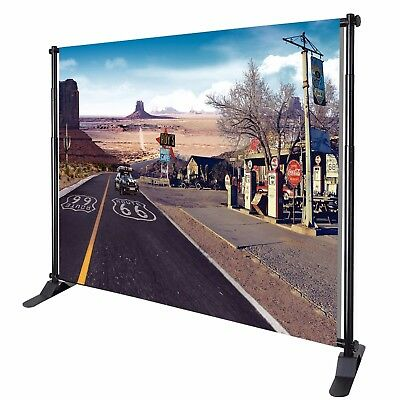 Heavy-Duty Tube Step and Repeat Backdrop Telescopic Banner Stand Adjustable 8x10